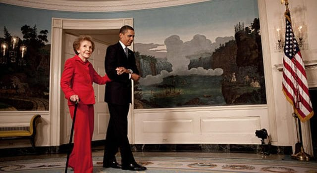 Nancy Reagan, Barack Obama, White House