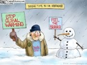 Bernie Sanders, Global Warming, Cold Snap Northeast