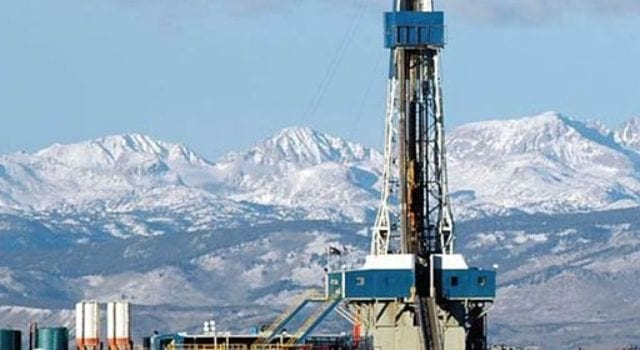 Fracking, Natural Gas Rig, Wind River, BLM