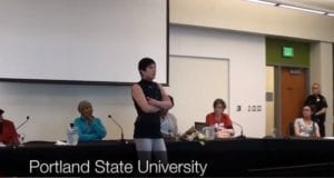 Portland State University Student Protest, Video Still