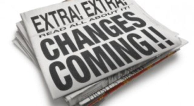 Newspaper, Extra Extra, Changes coming