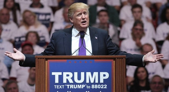 Donald Trump, Open Arms, Quizzical look, What About Me, Las Vegas