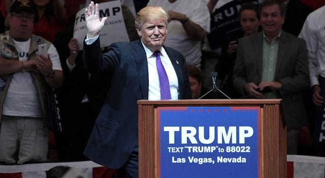 Donald Trump, Waiving, Las Vegas