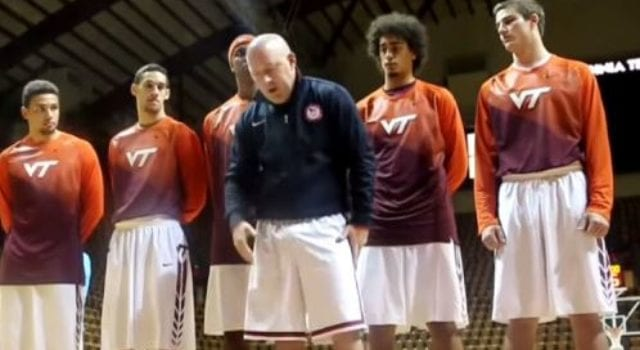 National Anthem, Virginia Tech Basketball Players Coach, Veterans, Video Still