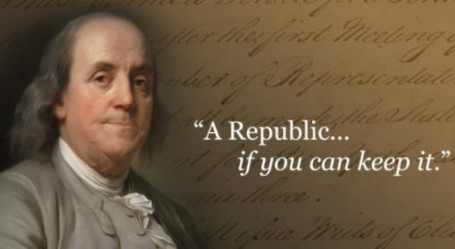 Benjamin Franklin, A Republic If You Can Keep It