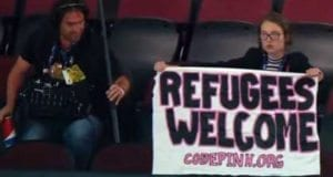 Refugees Welcome, CodePink At RNC, CSPAN, Video Still