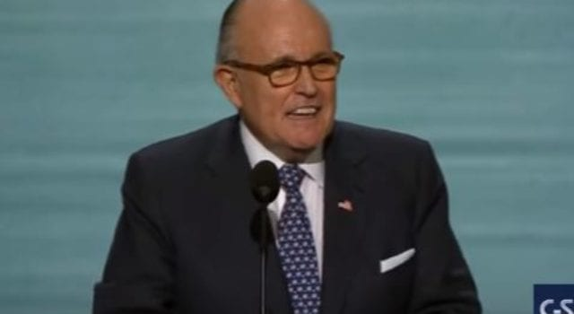 Rudy Giuliani At RNC, CSPAN, Video Still