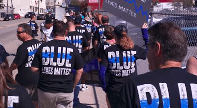 Blue Lives Matter rally