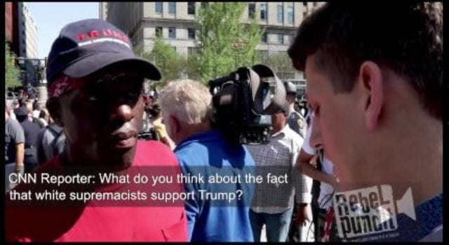 Black Trump Supporter v. CNN Reporter, video still
