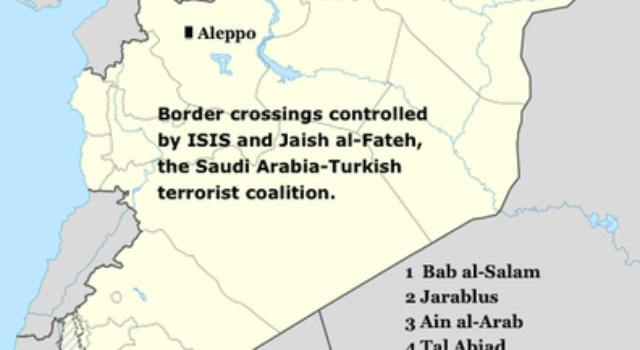Syria, Middle East, Map, ISIS control