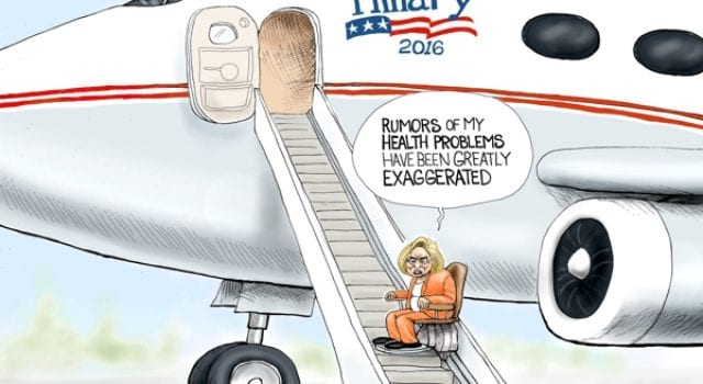 Hillary Clinton, Health, Cartoon