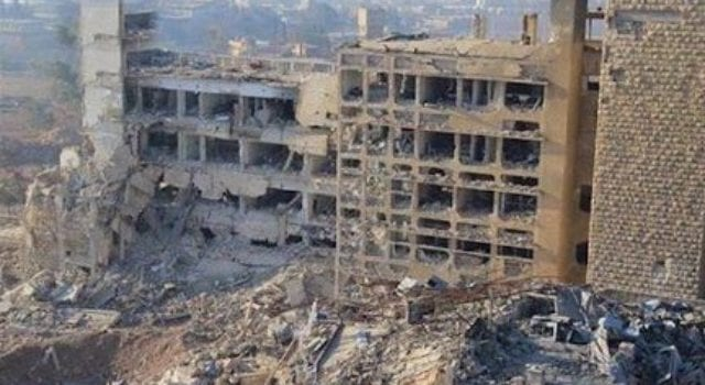 Syrian hospital, bombed, Al-Kindi
