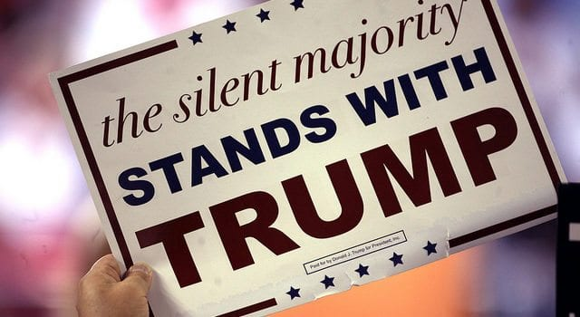 Donald Trump campaign sign, The Silent Majority