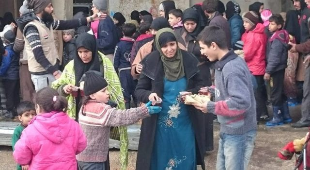 Aleppo freed refugees