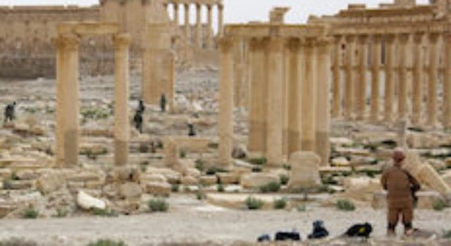 Palmyra ruins after ISIS