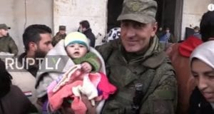 Syrian Army humanitarian aid, video still