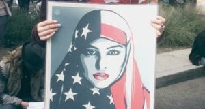 American Flag, Head Scarf, Women's March