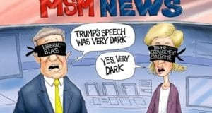 Trump, Media Bias, political cartoon