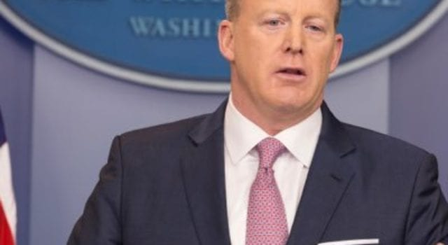 Press Secretary Sean Spicer, Attrib: White House, CC