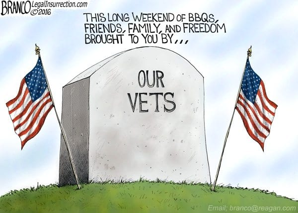Memorial Day, BBQ, Veterans, cartoon