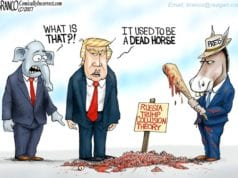 Trump-Russia Collusion, Beat It, Political Cartoon, AFBranco