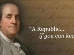 A Republic If You Can Keep It, Benjamin Franklin