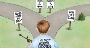 School Shooting, Guns, AF Branco, Political Cartoon