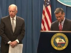 California Gov. Jerry Brown, AG Xavier Becerra