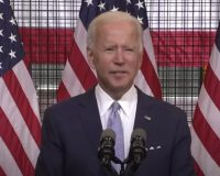 Biden tells reporters they need to be negative to survive