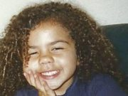 Kiera Bell as a young girl
