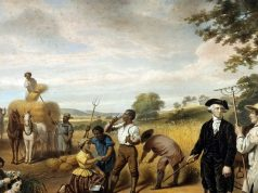 """The Life of George Washington: The Farmer,"" lithograph (Library of Congress)"