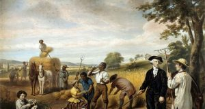 """""""The Life of George Washington: The Farmer,"""" lithograph (Library of Congress)"""