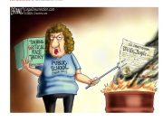 Critical Race Theory is unconstitutional but that doesn't stop public schools from teaching. Political cartoon by A.F. Branco ©2021