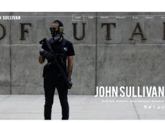 A screenshot of the homepage of JohnSullivan.org on Sunday.