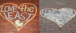 TRIGGER WARNING: Violent pro-life chalk art