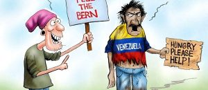 Venezuela, Feeling The Bern, Socialism, Political Cartoon