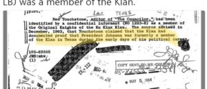 LBJ a KKK member? But he was a Democrat?