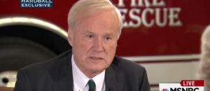 Chris Matthews thinks Obama is still President?