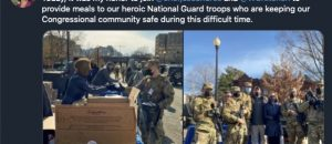 Nancy Pelosi Posing with National Guard Troops/Twitter