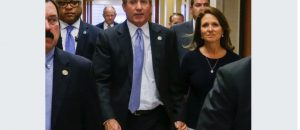 Republican Texas Attorney General Ken Paxton and his wife Angela Paxton